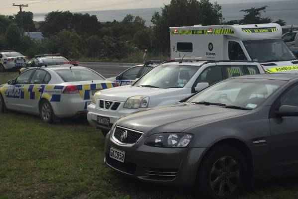 The Fire Service, police and St John rushed to Seacliff, 30 kilometres north of Dunedin, after reports of a firearm incident.