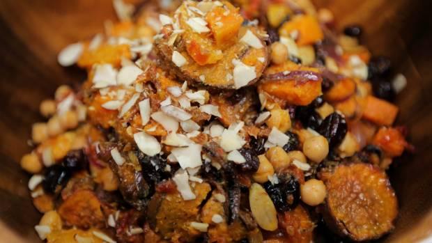 how to make kumara and pumpkin salad