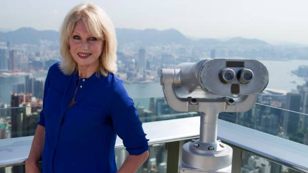 Joanna Lumley - the go-to-girl, or rather go-away girl for travelogues..