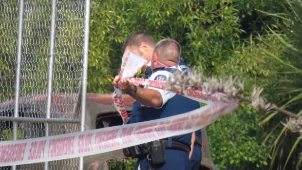 Police cordon a scene at Seacliff, near Dunedin.