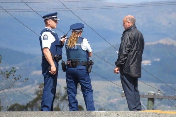 Police on Coast Rd, Seacliff.