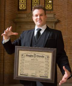 Pukekohe magician Mick Peck has been accepted into The Magic Circle of London.