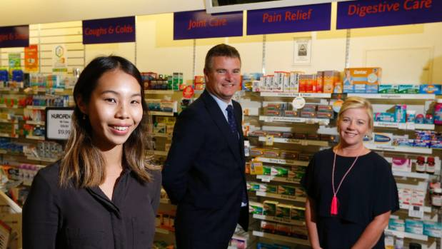From left, Angela Liu from Alexander Pharmacy on Willis St, which is taking part in the Eyes On initiative with First ...