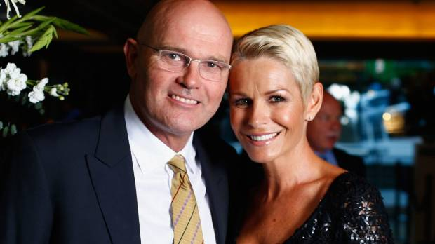 Martin Crowe and Lorraine Downes at last year's New Zealand cricket awards in Auckland.