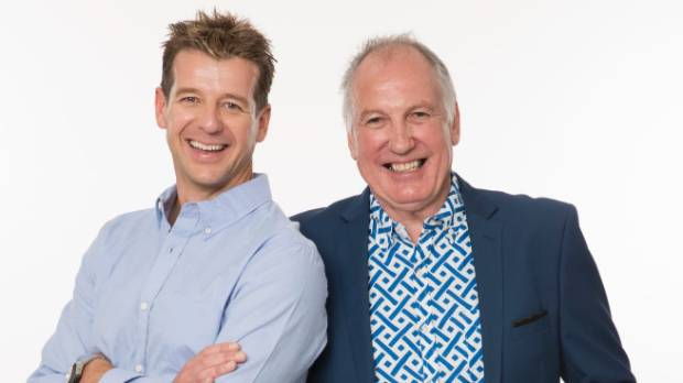More FM DJs Simon Barnett (L) and co-host Gary McCormick