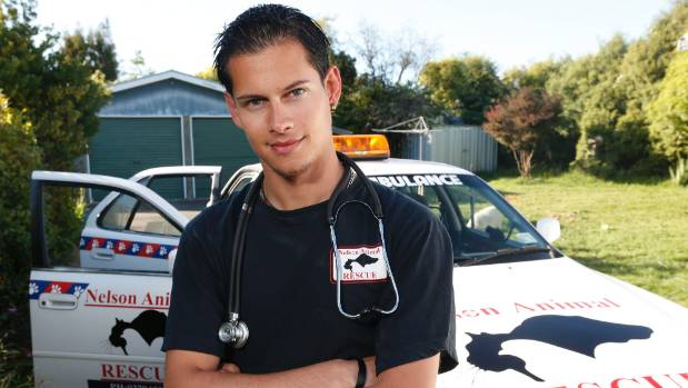 Shane Casbolt pictured in 2013 after starting an animal rescue in Nelson.