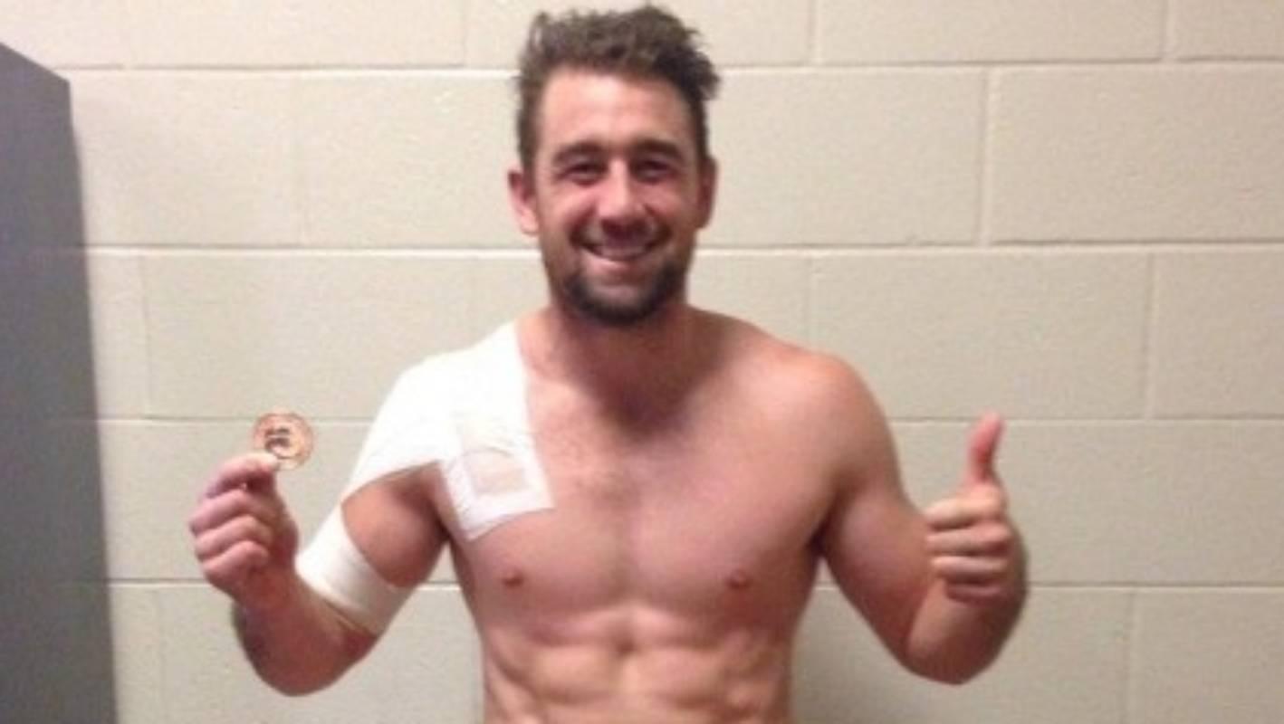Kurt Baker strips down in celebration of New Zealands
