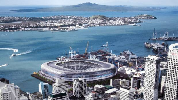 Auckland cbd stadium could be on the cards again stuff an artists impression of the auckland waterfront stadium first proposed in 2006 reheart Gallery