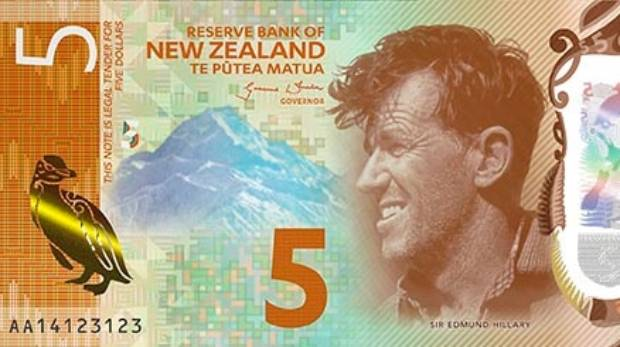 A penguin, a mountain, some flowers, and Sir Ed- does our fiver have it all?
