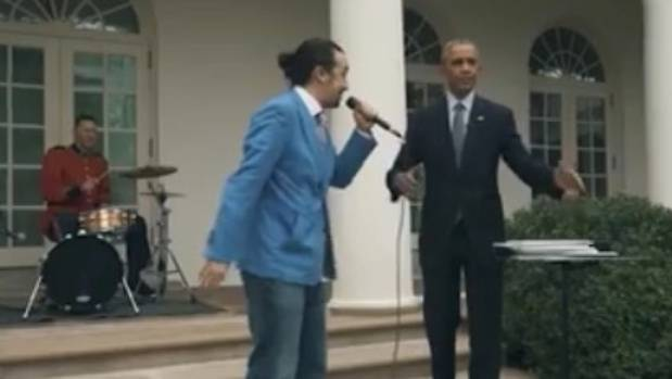 us president barack obama raps at the white house with lin manuel miranda. Black Bedroom Furniture Sets. Home Design Ideas