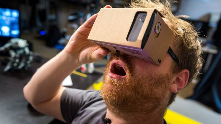 397e424c7836 Google Cardboard is essentially a piece of cardboard folded into a box  that s slightly shorter than