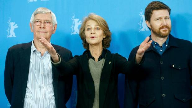 45 Years writer-director Andrew Haigh, right, pictured along with his stars Tom Courtenay and Charlotte Rampling has ...