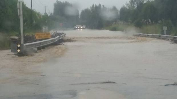 Some pictures of the flooding on SH25 south of Whitianga on Thursday.