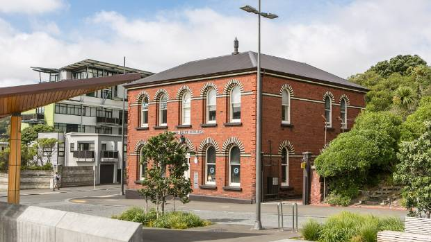 A Wellington couple have snapped up the Mt Cook police barracks in Buckle St. The black and white brickwork above the ...