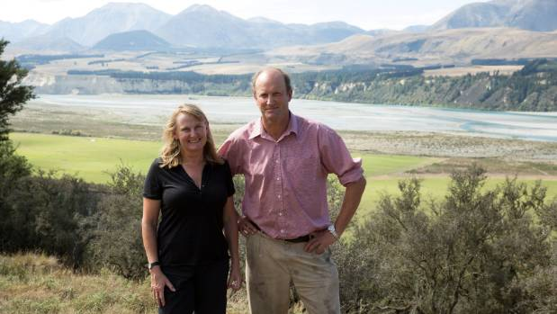 Ashburton zone committee chairwoman Donna Field and husband Ben Todhunter, a Canterbury foothills farmer.