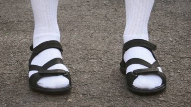 Socks with sandals. Just no.