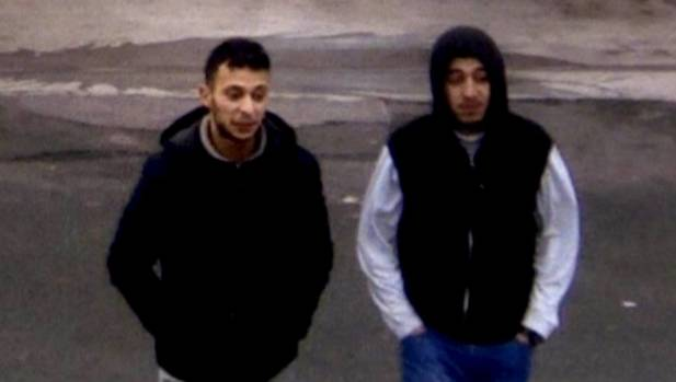 Paris shooting suspect, Salah Abdeslam (left), and suspected accomplice, Hamza Attou, are seen at a petrol station on a ...