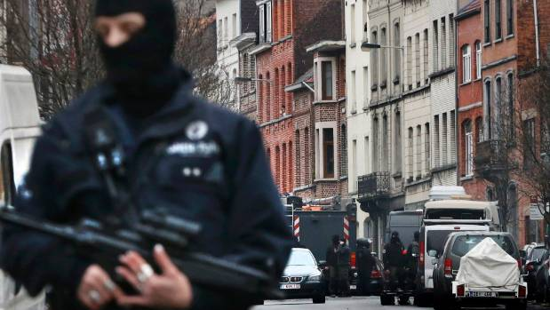 Several exchanges of gunfire rang out in the city's Molenbeek area.