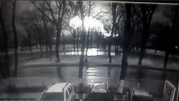 CCTV footage captures the moment a passenger plane carrying 62 people crashes in Russia, killing all on board.