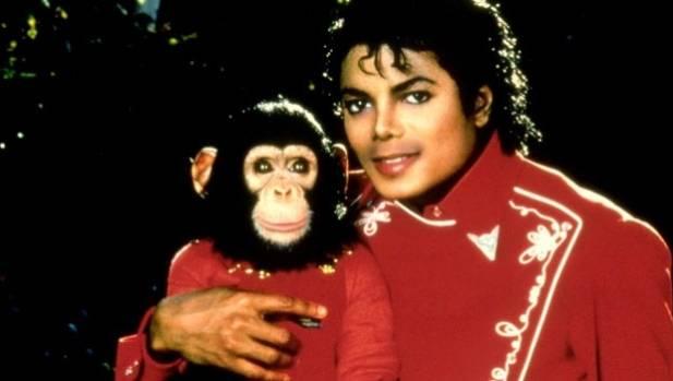 Michael Jackson and his beloved pet chimp Bubbles.