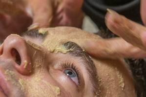 Getting a facial - not just for women.