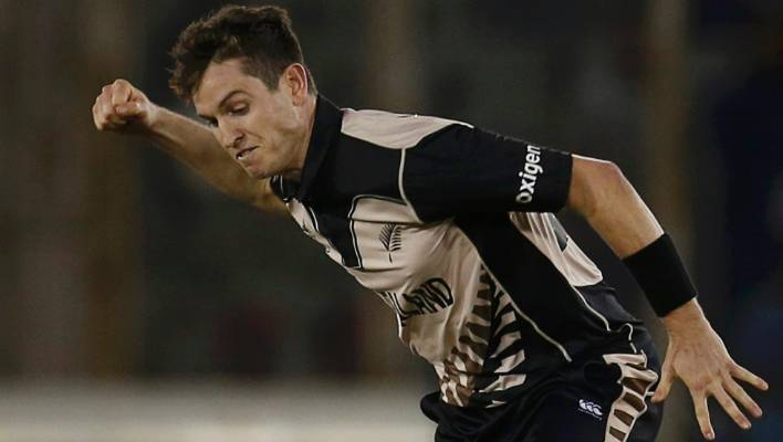 1d10679fee0 Black Caps fast bowler Adam Milne was pumped up after taking the wicket of  Pakistan batsman