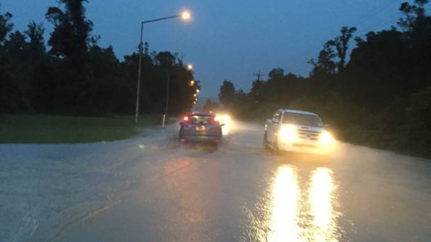 Civil defence evacuated 186 people after the Waiho River, near Franz Josef, broke its banks.