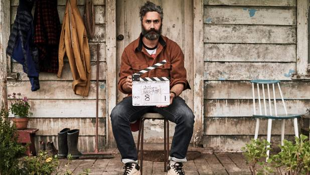 Film maker Taika Waititi on the set of Hunt for the Wilderpeople.