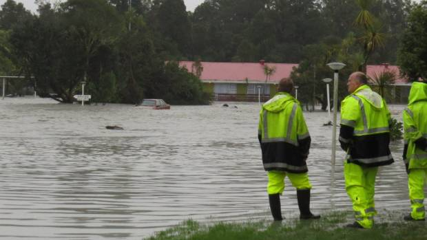 A state of emergency was declared after the Waiho River burst its banks north of Franz Josef.