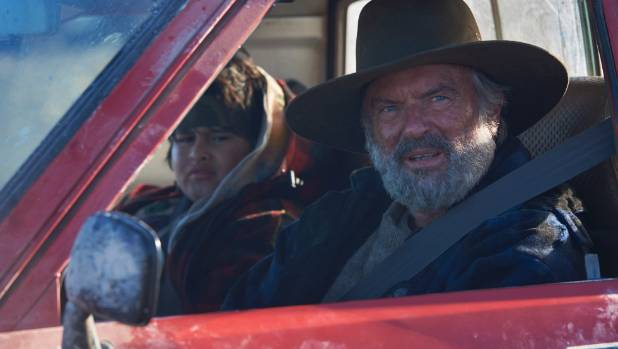 Actors Sam Neill and Julian Dennison  in the Taika Waititi film Hunt for the Wilderpeople.