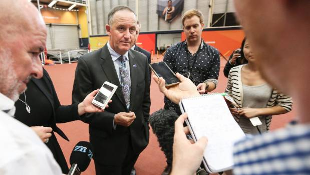Prime Minister John Key discusses the impending result of the flag referendum.