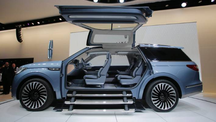 Ford S Lincoln Navigator Concept Vehicle At The 2016 New York International Auto