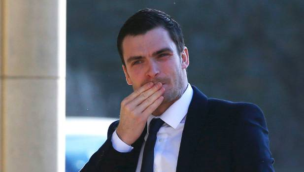 Former England and Sunderland footballer Adam Johnson arrives at Bradford Crown Court, before being sentenced to six ...