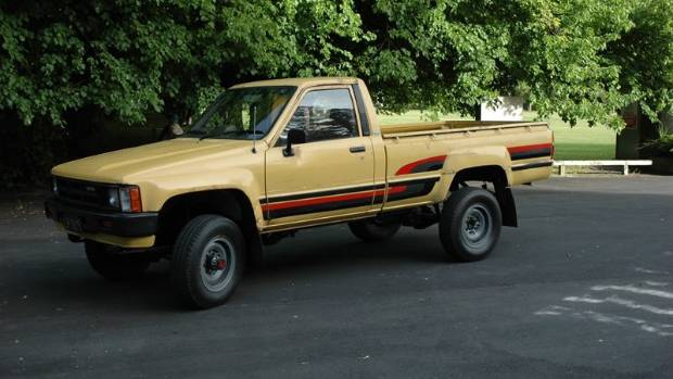The original 1984 Toyota Hilux four wheel drive which featured in the Barry Crump ad.