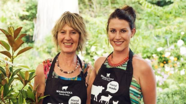 Karen, left and Rennae Trafford of Nelson's Wangapeka Family Dairy.