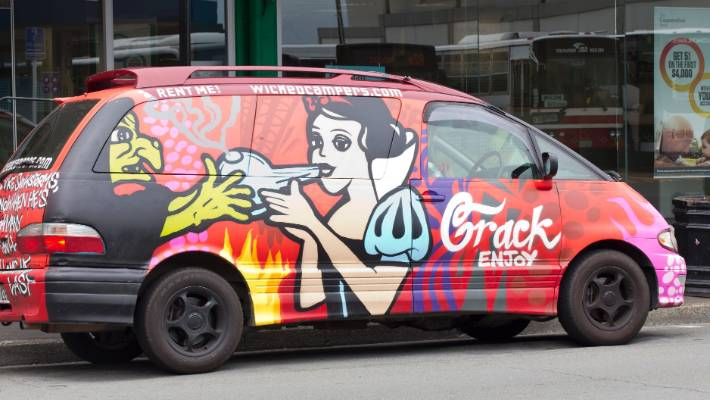 156695dfa0 Disney was investigating Wicked Campers  use of the Snow White characters  on its vans.