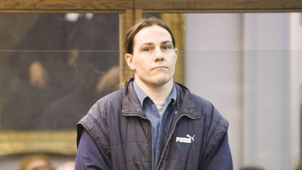 Hudson at his trial in 2009, for the murder of Nicholas Pike.
