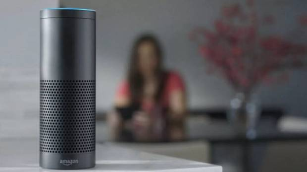An Amazon Echo device - one of the tech items offered via Big Apple Buddy that is not available in New Zealand.