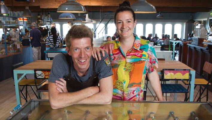 The Seashore Cabaret cafe co-owners Matthew Wilson and Freya Atkinson say happy staff are the key to a successful business.