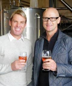 Moa chief executive Geoff Ross, right, with Australian cricket legend Shane Warne. Moa has always aimed itself at the ...