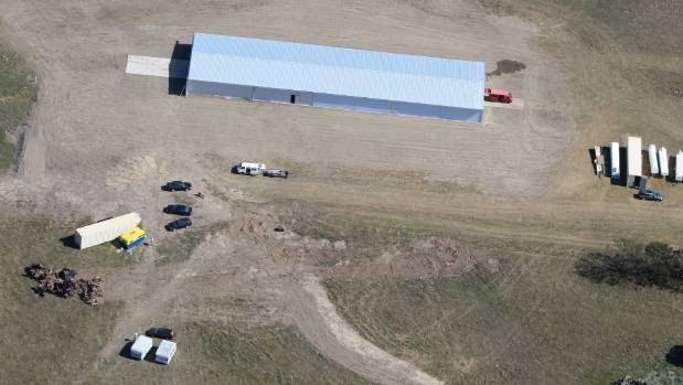 Aerial view of the Wellington Gliding Club's new base at the Greytown Soaring Centre, opening this weekend.