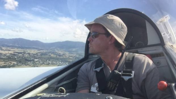 Wairarapa Gliding Club instructor David Hirst looks over the territory the club will now share with the Wellington ...