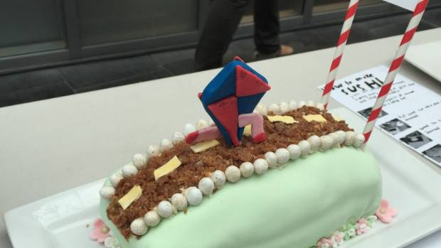 A cake adaptation of Khaled Hosseini's 2003 novel 'The Kite Runner' at Ara Institute's 2016 Edible Book Festival. Bree ...