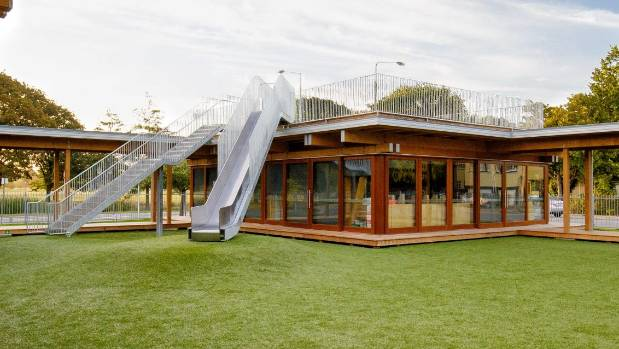 The junior school was designed by Tezuka Architects and Andrew Barrie Lab and built by Contract Construction.
