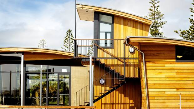 The Sumner Surf Lifesaving Club, designed by Wilson and Hill Architects and built by Hawkins Construction.