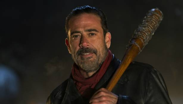 The finale saw the arrival of a long awaited couple of baddies: Negan and his Lucile - a barbed wire wrapped baseball bat.