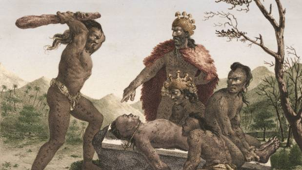 Many early Pacific cultures practiced ritual sacrifice.