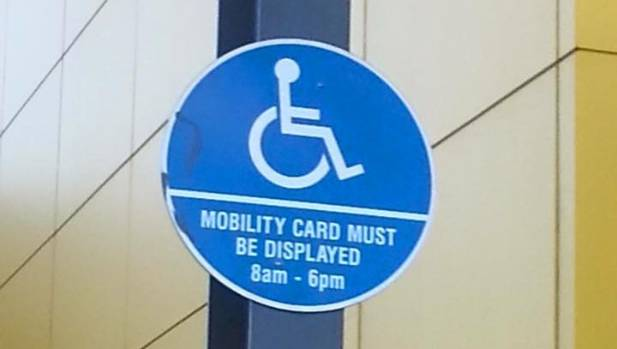 The mobility signs at Pak'N Save Mill Street, Hamilton, have since been removed.
