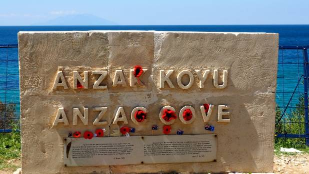 A plaque at Anzac Cove at Gallipoli in Turkey.