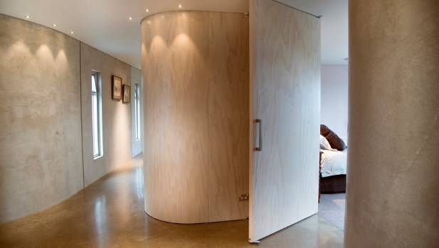 The Whitewash Effect On Curved Plywood In This House Designed By Studio Of Pacific Architecture
